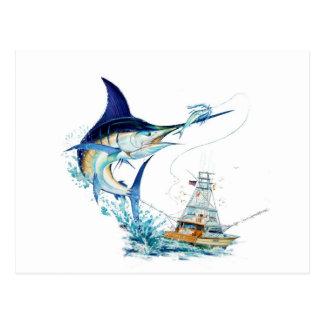 Sailfishen tar betet vykort