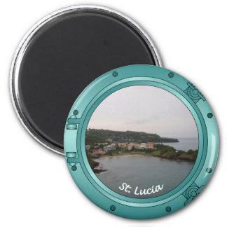 Saint Lucia hyttventil Magnet