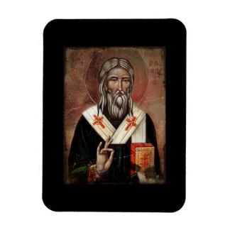 Saint patrick med lyftt räcker magnet