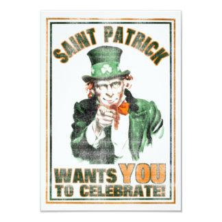 Saint patrick ÖNSKAR ATT DU ska fira inbjudan