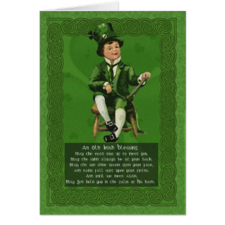 Saint patrick's daykort, St Patrick vintageCelt Hälsningskort