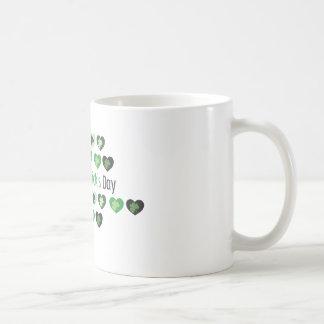 Saint patrick's daykortkorthjärtor kaffemugg