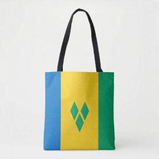 Saint Vincent and The Grenadines flagga Tygkasse