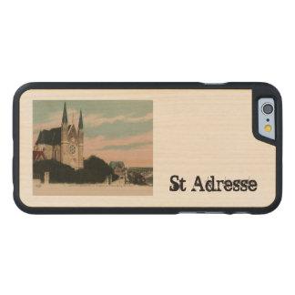 Sainte Adresse vykortdesign Carved Lönn iPhone 6 Skal