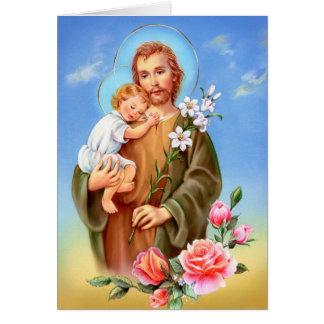 """Saints """"för St Joseph festmåltiddag"""" """"lite av Hälsningskort"""