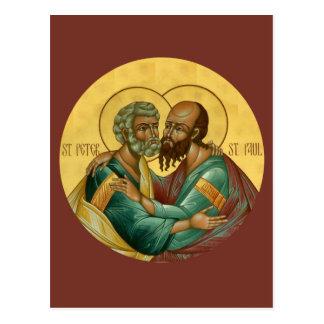 Saints Peter och Paul bönkort Vykort
