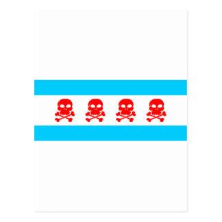 Saker för Chicago flaggadöskallar Vykort