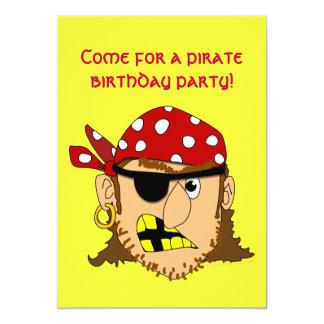 Saker för pirat för anpassade för Arr piratman 12,7 X 17,8 Cm Inbjudningskort