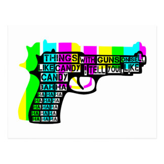 Saker med vapen på vykort