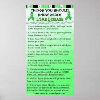 Saker som du bör veta om den Lyme sjukdomaffischen Poster
