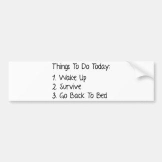 Saker som ska göras i dag bildekal