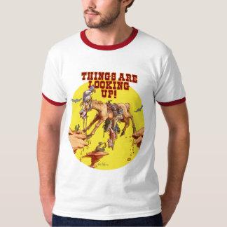 Saker tittar upp! tee shirts