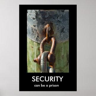 SÄKERHET kan vara en fängelseDemotivational affisc Poster