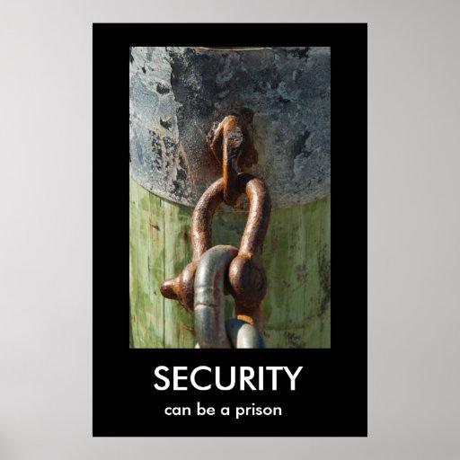 SÄKERHET kan vara en fängelseDemotivational affisc Affischer