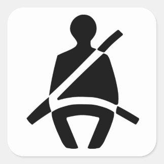 Säkerhetsbältesymbol Fyrkantigt Klistermärke