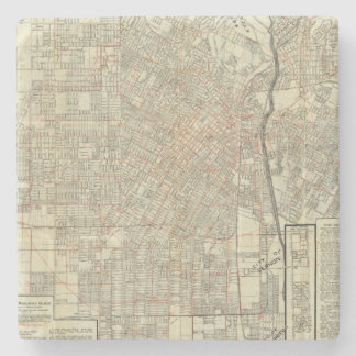Säkerhetskarta- och gatajärnvägar i Los Angeles Stenunderlägg