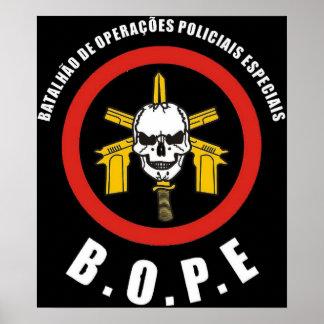 Sakkunnigpolisstyrka för BOPE Tropa De Elit Brasil Poster
