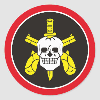 Sakkunnigpolisstyrka för BOPE Tropa De Elit Runt Klistermärke