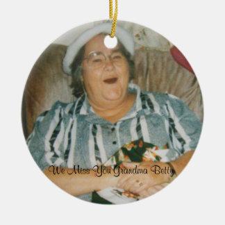 Saknad dig mormor Betty Julgransprydnad Keramik