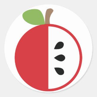 Saknad kil - Apple Runt Klistermärke
