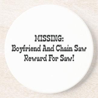 Saknad pojkvän- och Chainsawbelöning för sågar Underlägg För Glas