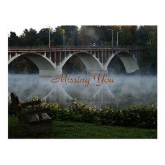 Saknad som du den dimmiga morgonen för ~ vykort
