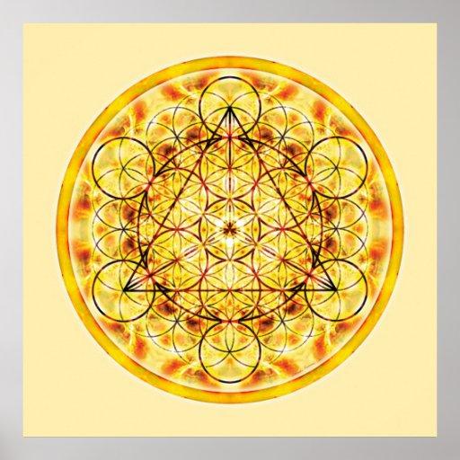 Sakral geometriMandala 2 Affisch