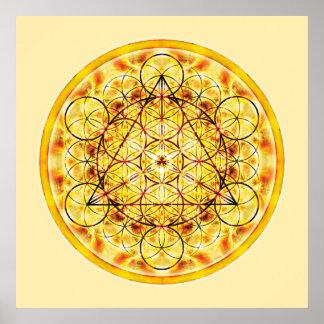 Sakral geometriMandala 2 Poster
