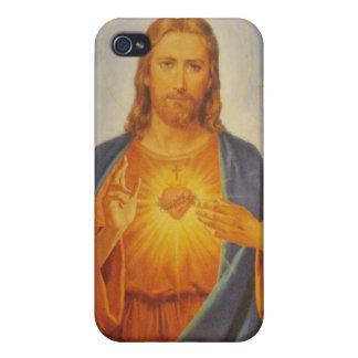 Sakral hjärta av Jesus iPhone 4 Skal