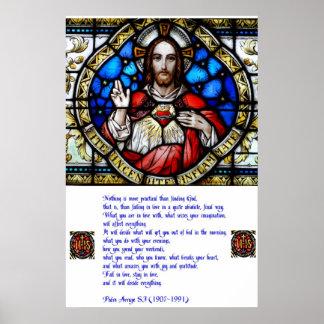 Sakral hjärta och Arrupe bön Poster