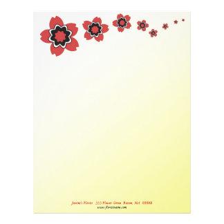 Sakura blom- körsbärsröd blommarbrevhuvud brevhuvud