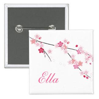 Sakura knäppas körsbärsröda blommar med anpassning standard kanpp fyrkantig 5.1 cm