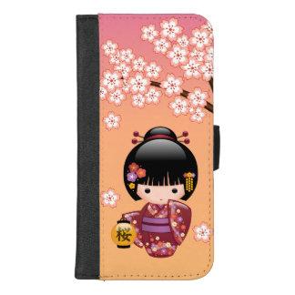Sakura Kokeshi docka - Geishaflicka på persika