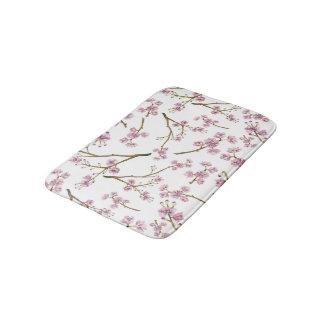 Sakura körsbärsrött blommartryck badrumsmatta