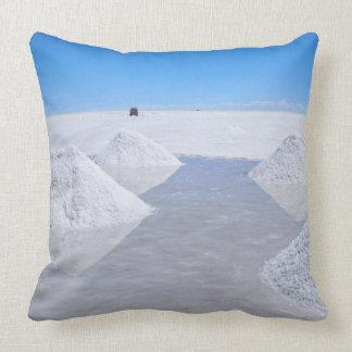 Salar de Uyuni salt lägenhetdekorativ kudde