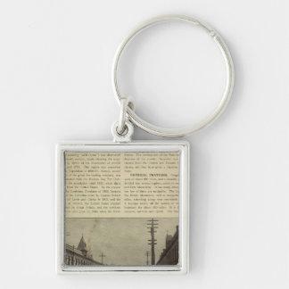Salem eller gata fyrkantig silverfärgad nyckelring