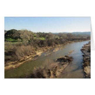 Salinasfloden från vingård överbryggar, Templeton, Hälsningskort