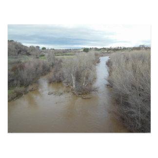 Salinasflodnorden av veteranminnesmärken vykort