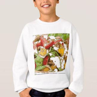 Sallad för läcker tomat-, avokado- och fetaost t-shirts