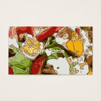 Sallad för läcker tomat-, avokado- och fetaost visitkort
