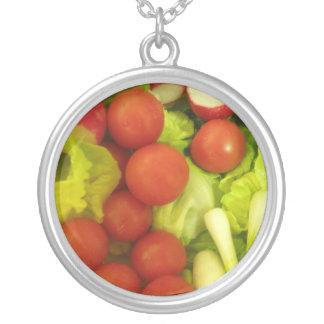 Salladgrönsakhalsband Silverpläterat Halsband