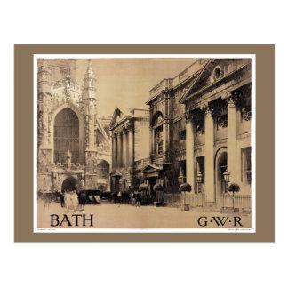 Sällsynt återställd badvintage resoraffisch vykort