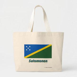 Salomonen Flagge mit Namen Tygkasse
