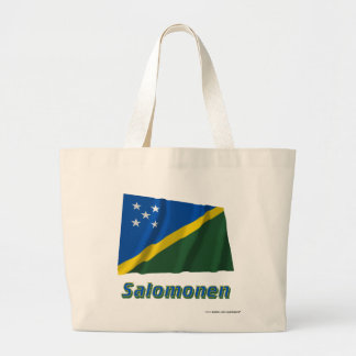 Salomonen Fliegende Flagge mit Namen Tote Bag