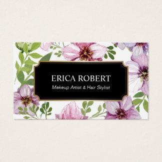 Salong för blommigt för vintage för stylist för visitkort