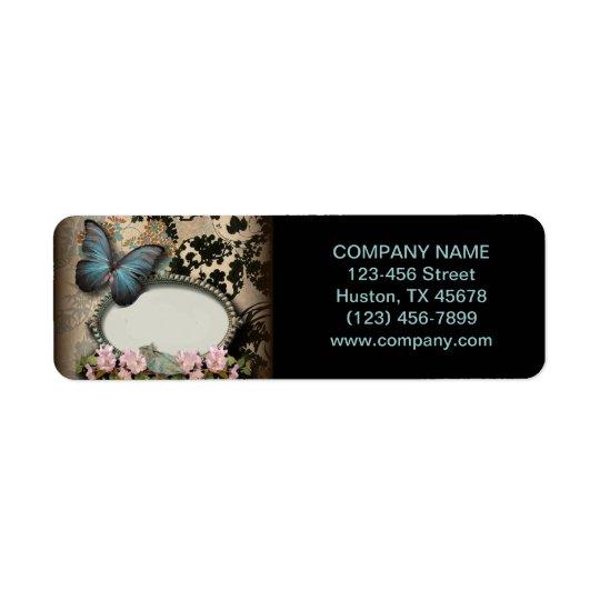Salong för skönhet för SPA för fjäril för Paris Returadress Etikett