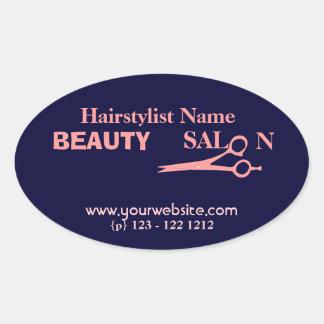 Salong & Spa för skönhet för hårstylistmode Ovalt Klistermärke