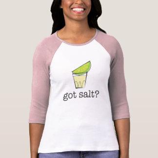 Salt har? Tequila som skjutas med limefruktrosor Tröjor