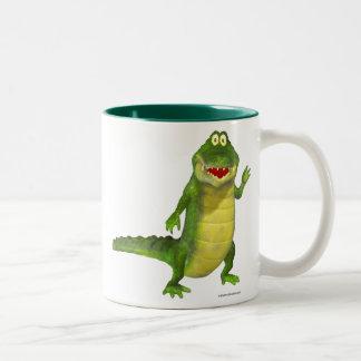Salt krokodilen Två-Tonad mugg