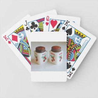 Salt vintage och pepparShakers Spelkort